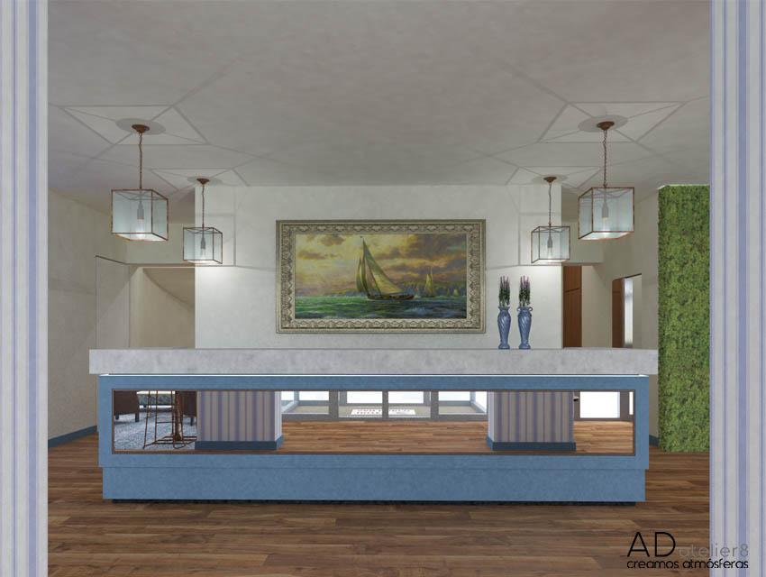 proyecto de interiorismo para un hotel de playa