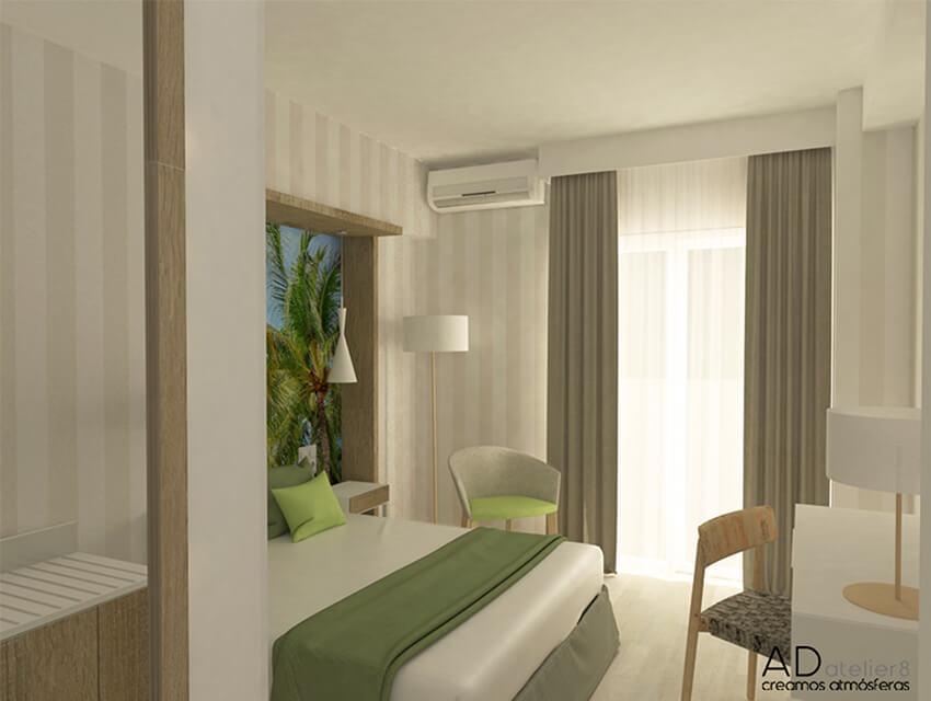 interiorismo para un hotel de playa