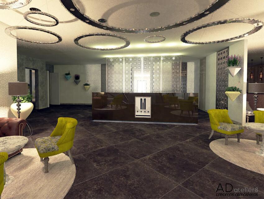 proyecto de decoración para un hotel