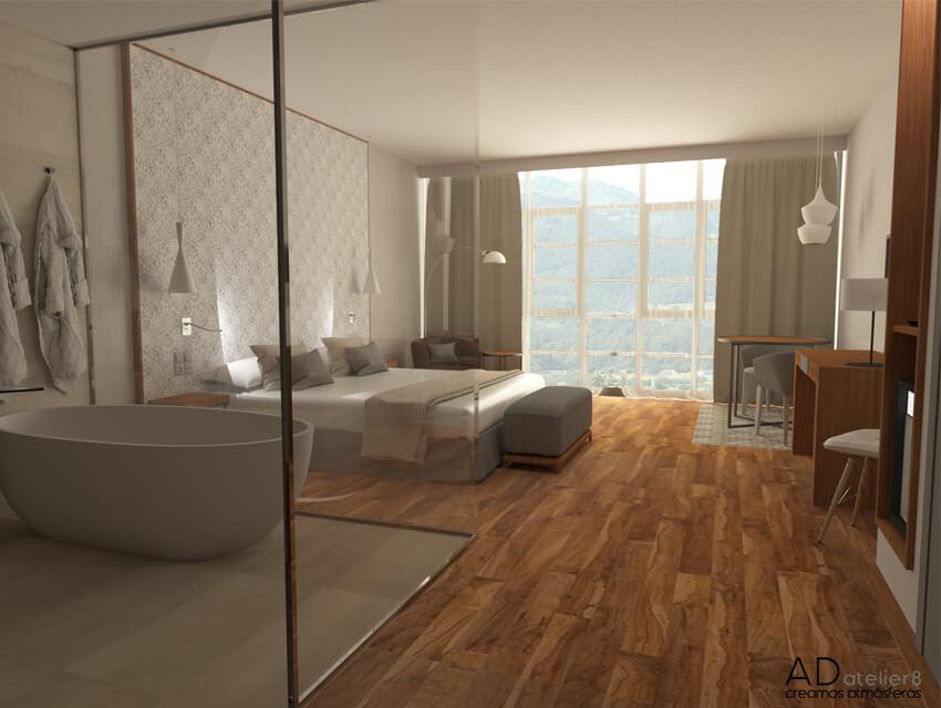 proyecto de diseño de interiores para un hotel