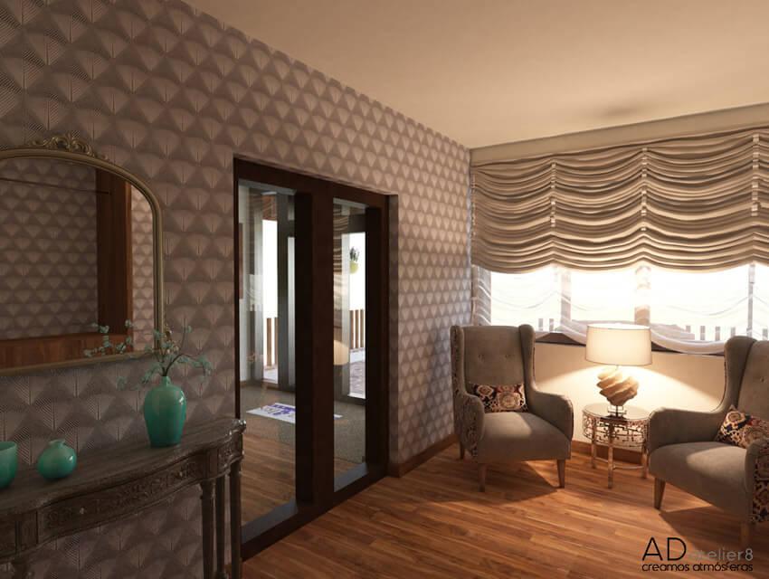 proyecto de interiorismo para un hotel de montaña